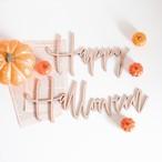 木製 / ハロウィン レターバナー [ Happy Halloween ]