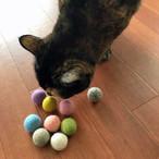 猫のおもちゃ フェルトボール 猫用 9カラーパック スモーキーパステル ウールボール Wool Balls cat toy