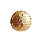 【VINTAGE SAINTLAURENT BUTTON】ゴールド ボーダー ロゴ ボタン 1.5mm