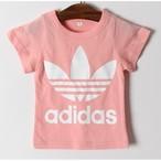 アディダス風 Tシャツ ピンク
