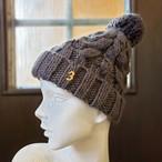 ナンバーニット帽(グレー)
