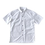 Mountain Men's ボタンダウン ホワイトアロハシャツ / loke
