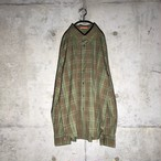[Paul Smith] Green×Brown checked shirt