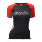 SWIX(スウィックス) Radiant レースX SS 半袖 レディース 40616-90015 ベースレイヤー インナー アウトドア トレッキング スポーツ ジム フィットネス ランニング ウェア
