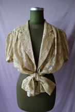 Gold lace blouse