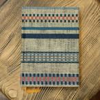 ヴィンテージ青縞帯 A6罫線Colorisノート ポータブルサイズ