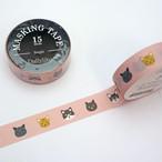 【デコレクションズ】マスキングテープ「Kitty」猫柄ピンク【mt-kitty】