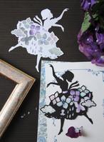 【PDF図案】紫陽花のバレリーナ
