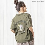 【LADIES】モヒート柄刺繍 開襟シャツ NO0512506