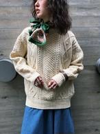Vintage handmade aran knit tops ( ヴィンテージ ハンドメイド アラン ニット トップス )