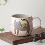 【直販限定】ハチワレネコの手彫りレリーフマグカップ 1