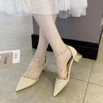 【shoes】安定感がある女性らしい印象パンプス
