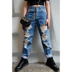 """KENZO"" Crush Denim Pants"