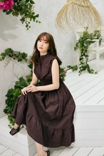 Paisley Cotton Lace Long Dress【新色】