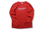 double logo long sleeve / red