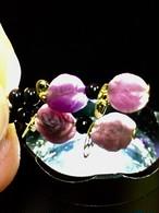 1) 紫ゴビアゲート「卑弥呼」ピアスA