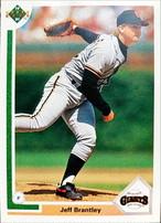 MLBカード 91UPPERDECK Jeff Brantley #424 GIANTS