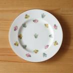 アンティーク食器 ミントン 花柄 デザートプレート ケーキ皿 16cm #190301-1~6 Minton ばら 勿忘草 パンジー カラフル 陶磁器