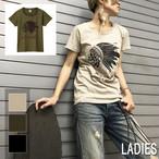 スカル ウォーボーンネット T-shirt(レディース)