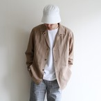 STILL BY HAND【 mens 】open collar jacket