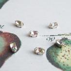 ヴィンテージ アイリスカラーのマーキスラインストーン縫い付けタイプ(4コ)
