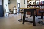 ウィスキー樽 オーク材 A型アイアン脚 ダイニングテーブルW1600*D800*H710 LESS×別子木材コラボモデル【材料限定オーダー製作・送料無料&設置組立サービス付き!】特別な一台をお届け致します。