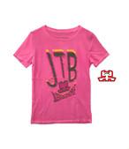 【JTB】蛍光ロゴ Tシャツ【ピンク】イタリアンウェア【送料無料】《W》