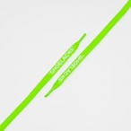 "FLAT LACES SOLID ""SHOELACES/NEON GREEN WH"""