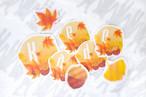 手作り用【ダウンロード版】ガーランド(A~Z)_11月_autumn_circle