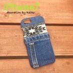 デニムiPhone7カバー(オルテガ黒)