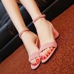 【shoes】エレガントスエードストラップ3色売れ筋涼しいサンダル