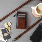 本革スリムカード財布+12mmストラップ【幅12mmストラップセット価格】Wallet & Strap SET Price