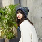 【小物】大人エスニックニット毛玉飾り寒さ対策帽子 24469432