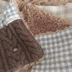 手編みニット付きマフラー