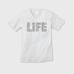 【ユニセックスVネックTシャツ】LIFE