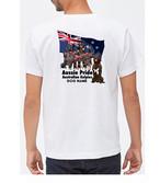カスタム:オリジナル・オーダーAK-0030bs  (バックプリント)オーストラリアン・ケルピー Aussie Pride 袖プリントあり