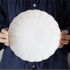 輪花皿 21cm  (パール釉)【クラウドファンディング で先行予約受付中!】
