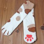 【ルームソックス】猫の足ソックス(三毛猫)【猫雑貨 靴下】