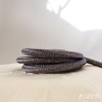 正絹 丸組の帯締め 黝色(ゆうしょく)