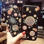 宇宙 刺繍 カラフル ポップ iPhone シェルカバー ケース ポップ 可愛い 個性的 ★ iPhone 6 / 6s / 6Plus / 6sPlus / 7 / 7Plus / 8 / 8Plus / X ★ [MD088]