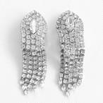 rhinestone fringe earring[e-687]