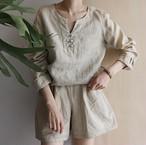 linen  china shirt
