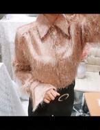 フェアリーファーブラウス ブラウス シャツ  韓国ファッション