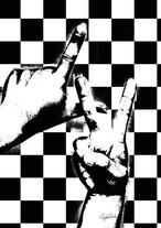 Craig Garcia 作品名:Sign language LV 03  A1ポスターフレームセット【商品コード: cgsnlg03】