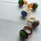 Italian Resin bi-color ring
