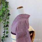 正絹 滅紫のレース小紋