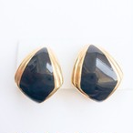 """Monet"" black & gold earring[e-1040]"