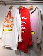 Ohフードトレーナー ★UNISEX フーディー スウェット フードトレーナー 韓国ファッション