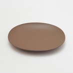 oval plate_L / shishikui brown