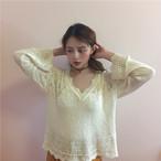 feminine lace sweater 2853